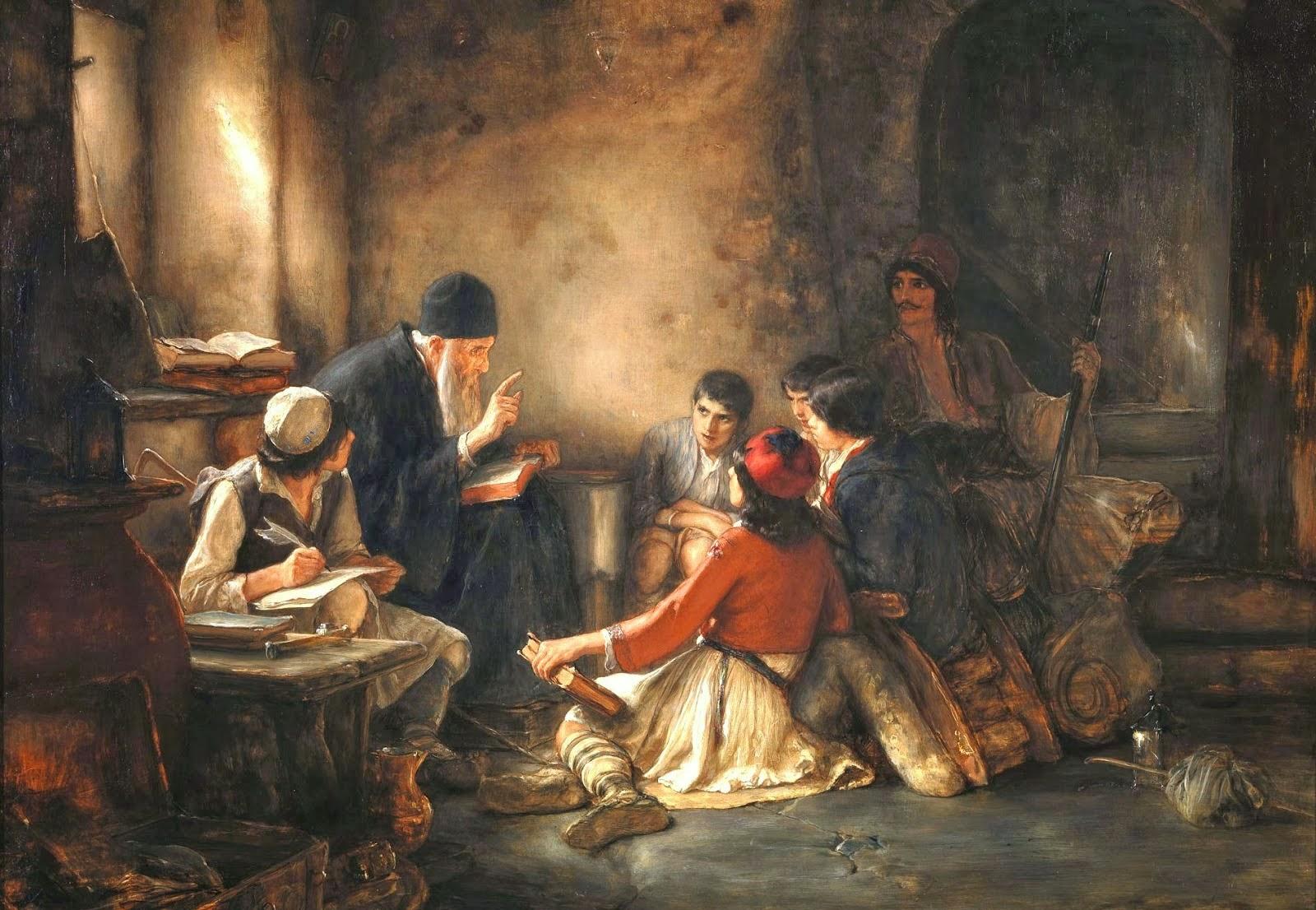 Πίνακες από την σημμετοχή του κλήρου στην επανάσταση του 1821