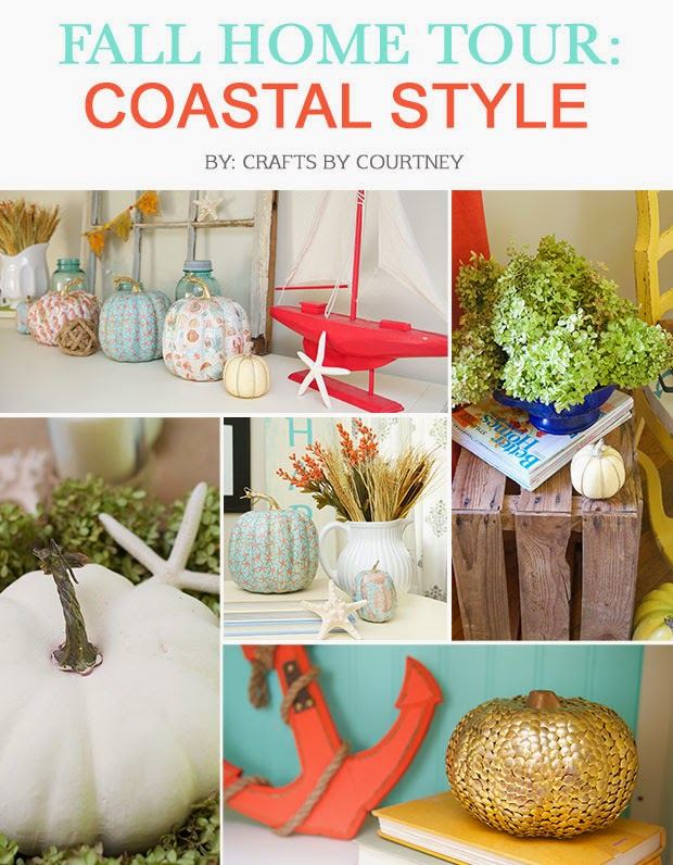 Fall coastal theme home tour on Crafts by Courtney