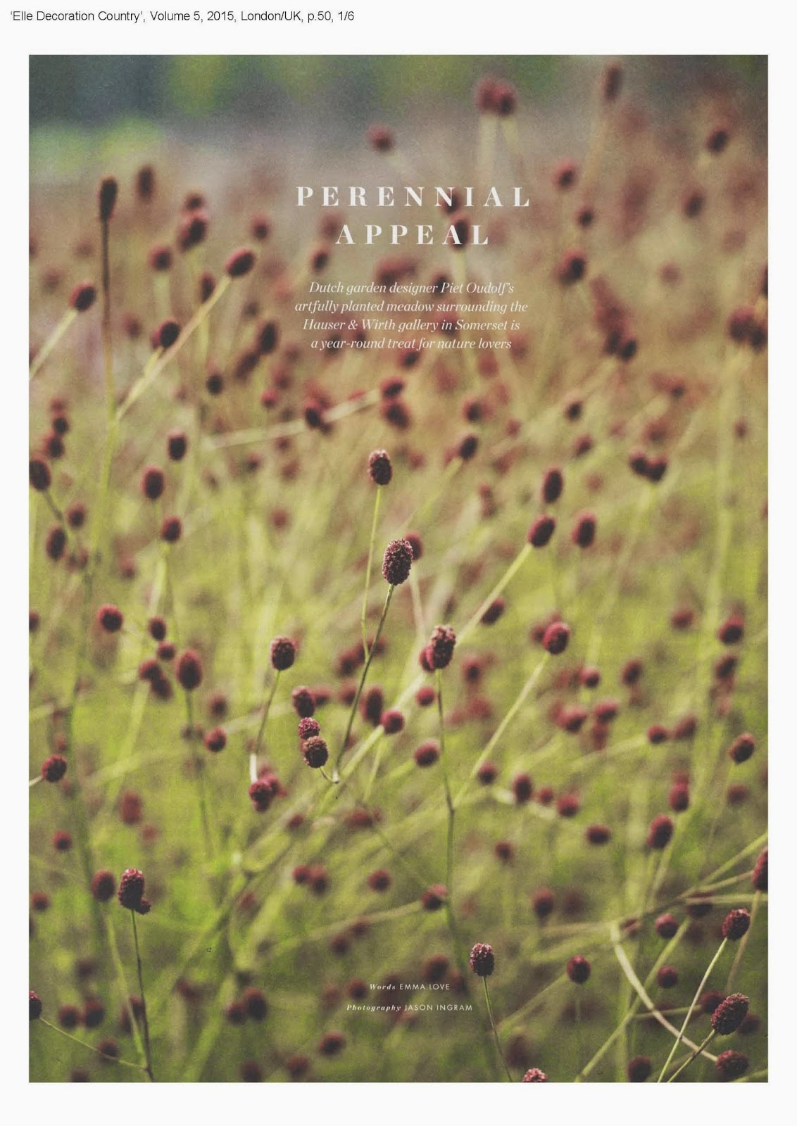 Elle Decoration Country, Volume 5, 2015 | Petherick Urquhart Hunt