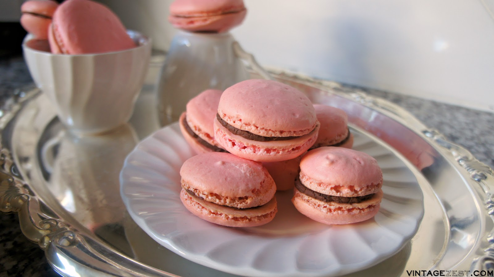 Peppermint Mocha French Macarons recipe on Diane's Vintage Zest  #ad #DelightfulMoments #CollectiveBias