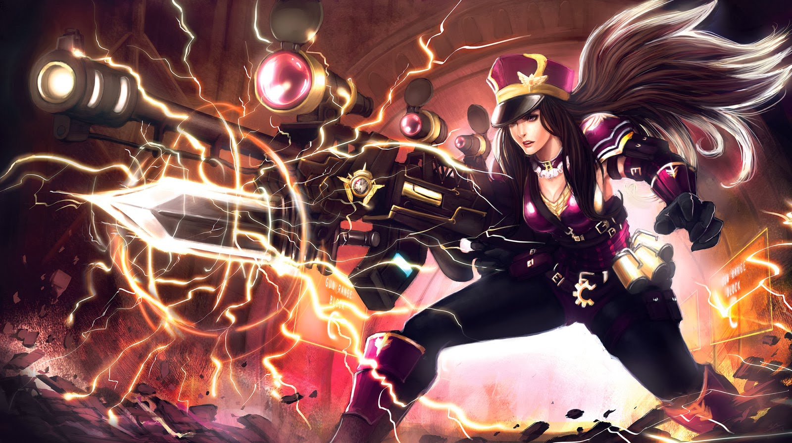 Caitlyn League of Legends Wallpaper
