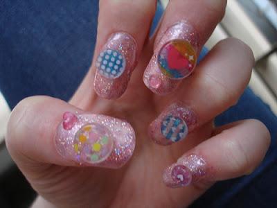 nail nailart 3dnailart arylicnail art kawaii japanese candy design cool best hello kitty candy tokyo 2528192529 - Nail Art