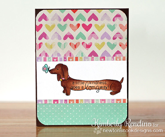 Long Dachshund Card by Kimberly Rendino | Delightful Doxies Stamp set by Newton's Nook Designs