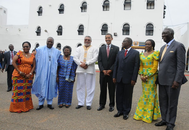 Picture of President Mills of Ghana with ...