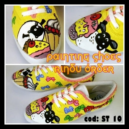 Sepatu Lukis Birthday party   b39e525a3f