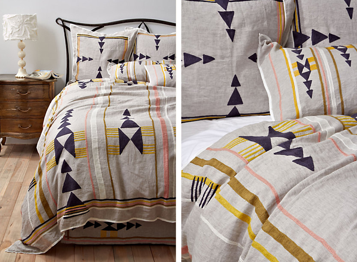 black white yellow graphic bedding -  graphic bedding
