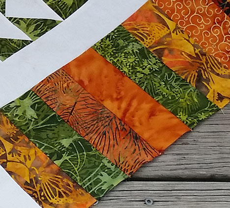 closeup of fabrics with my phone
