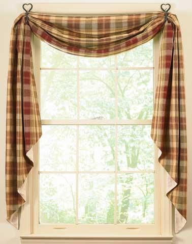Pig Farming Country Kitchen Curtains