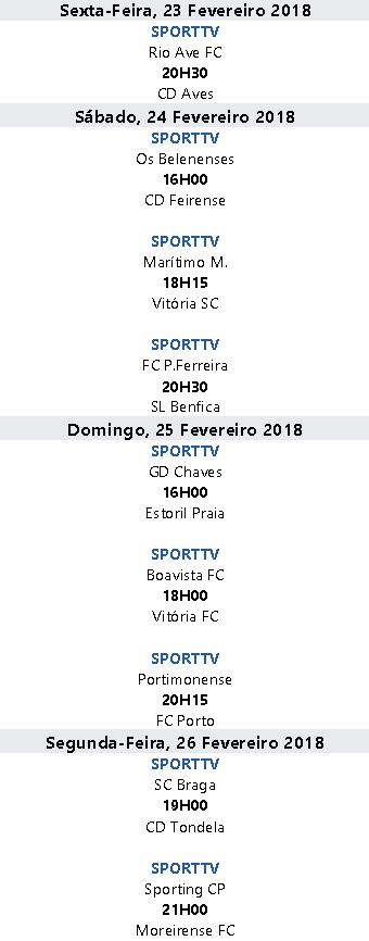 Liga Nós 2017-2018 24ºJornada