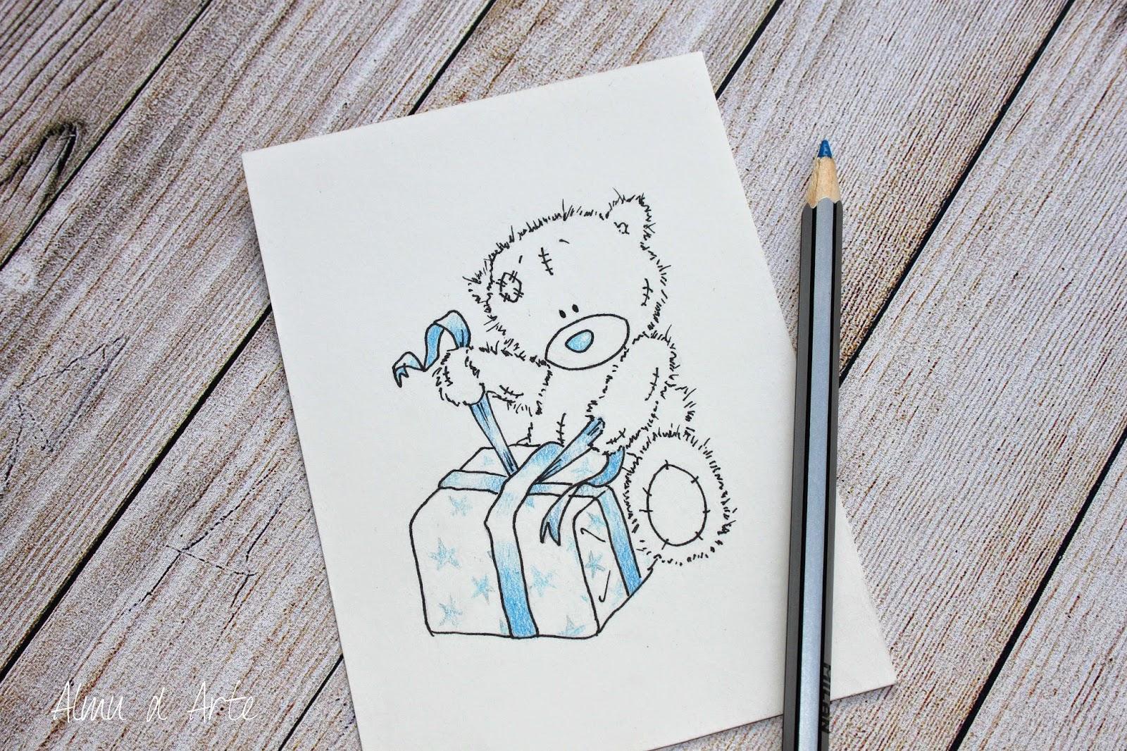 Tarjeta regalo dibujada a mano