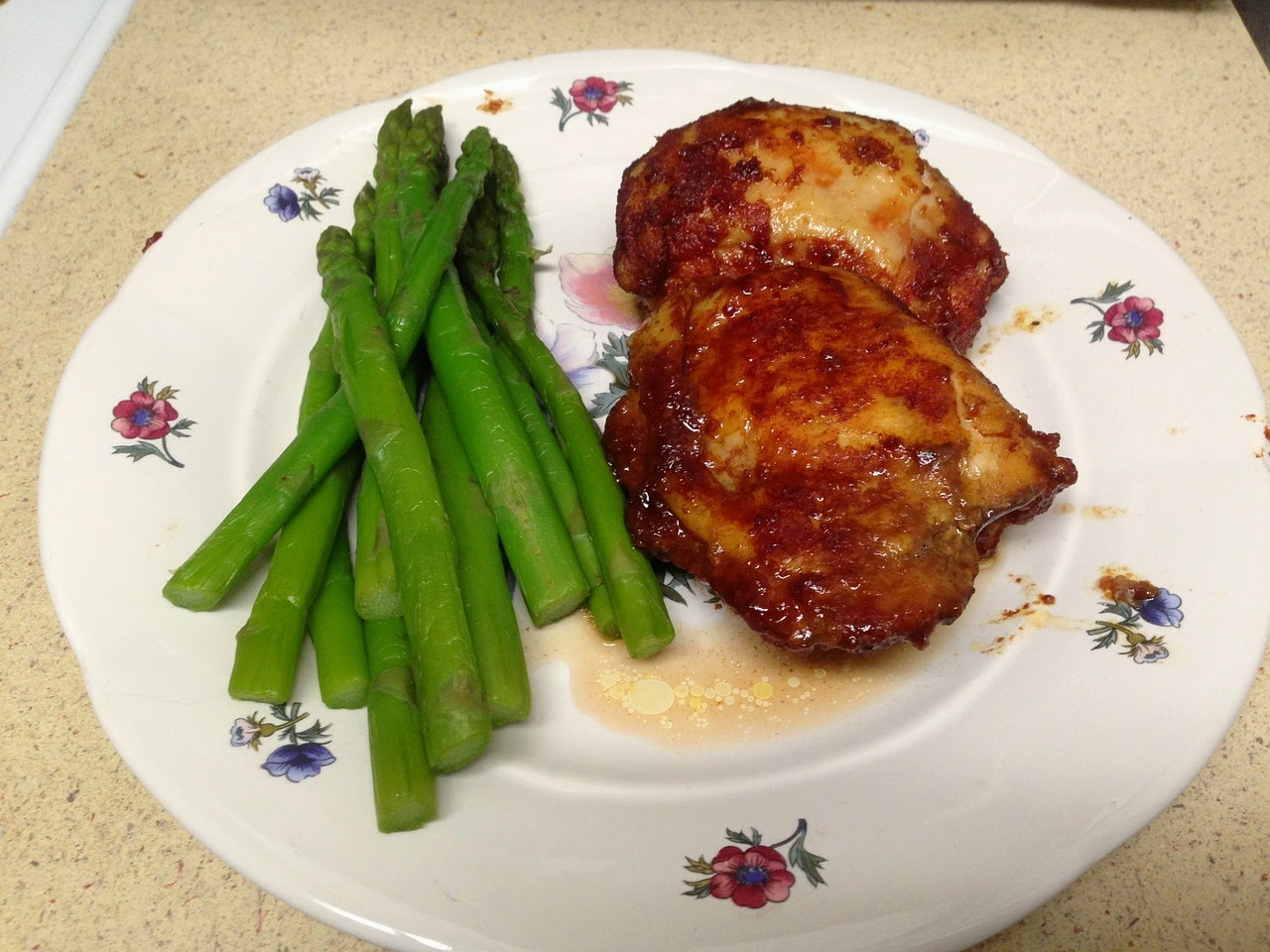 Baked Chicken with Asparagus