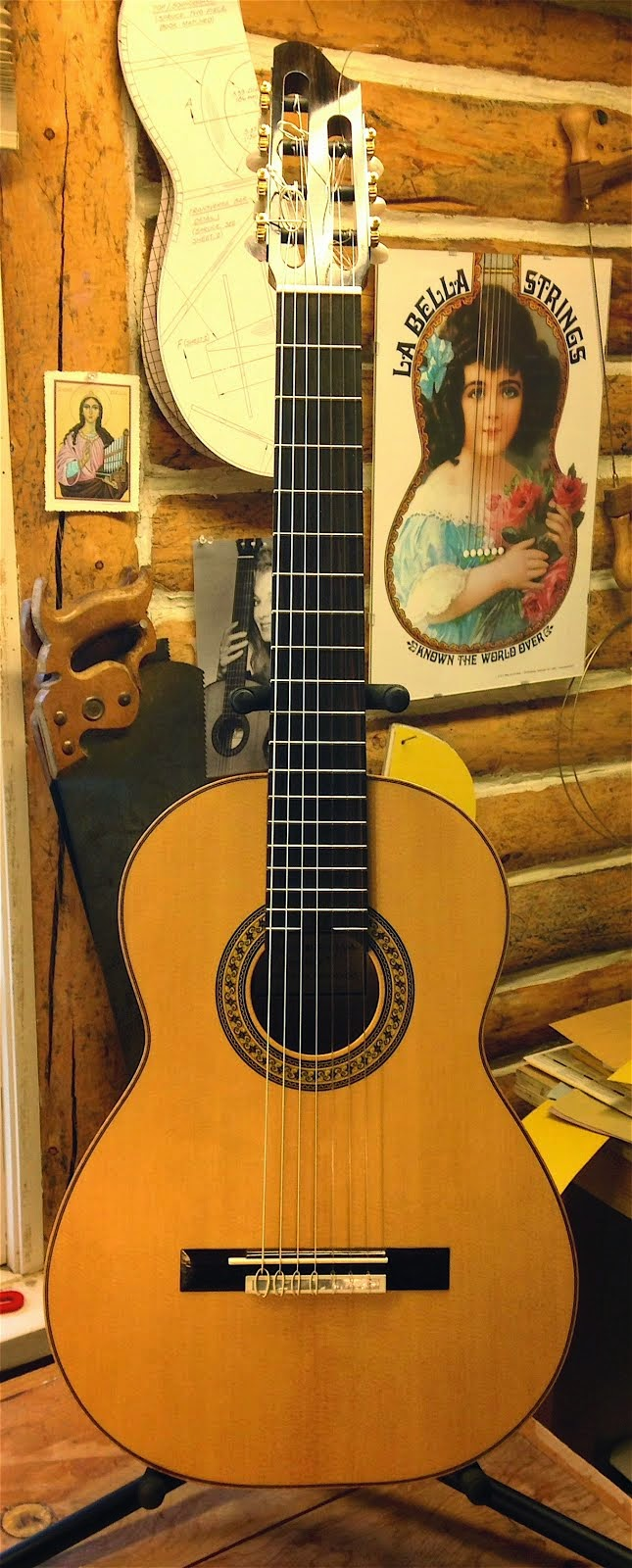 SOLD! 1929 Santos Hernandez Seven String Flamenco Guitar