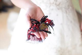 Custom Mickey Mouse Wedding Garter by Sugarplum Garters