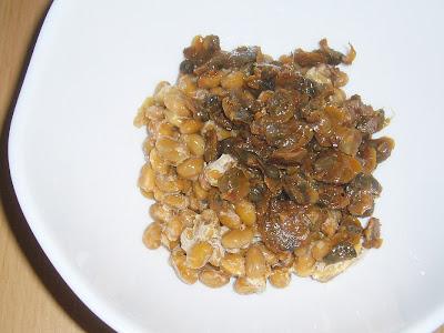 納豆にしじみの佃煮(山椒入り)
