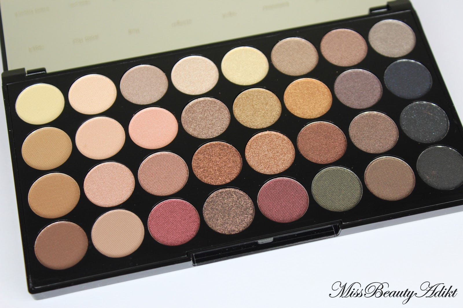 Makeup Revolution Ultra 32 Eyeshadow Palette in Flawless Review ...