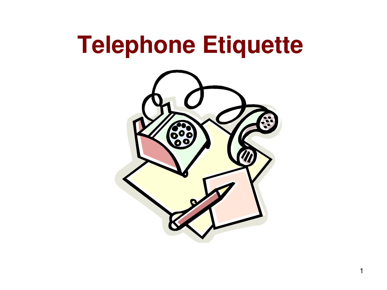 telephone etiquette telephone instruction manual essay