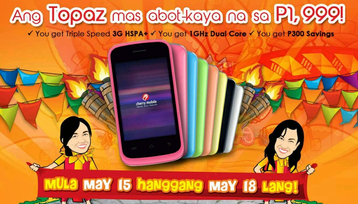 Cherry Mobile Topaz Sale Price at P1,999 this May 15 to 18