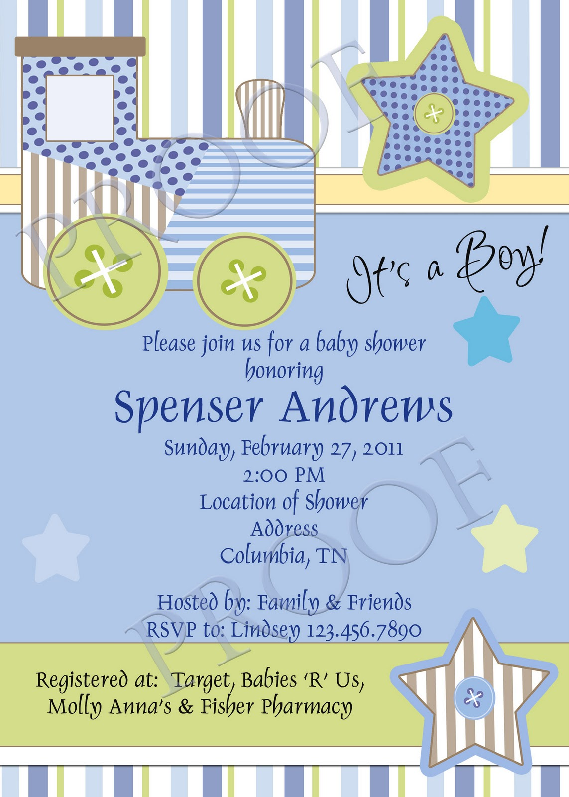 fanci prints by tiffany  baby shower invitations