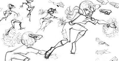 sketches for cheerleader character