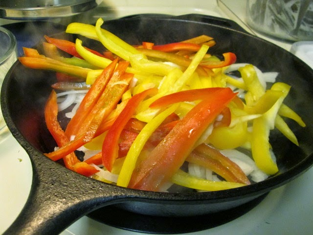 Prepping vegetables