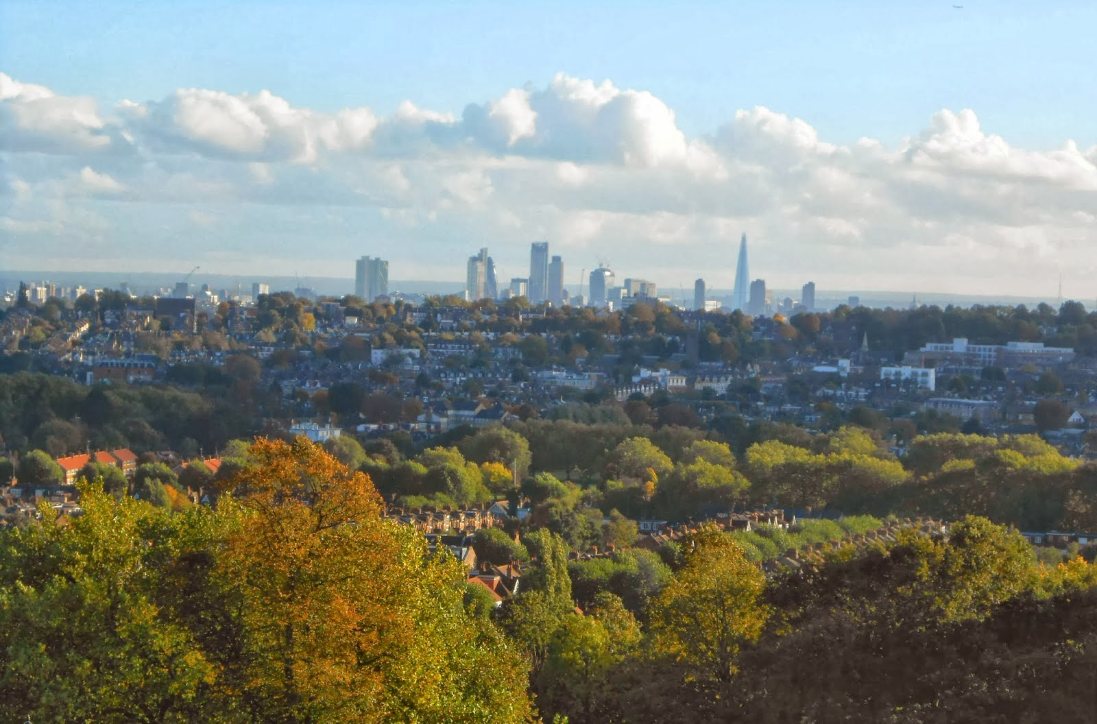 LONDON Skyline view from Alexandra Palace