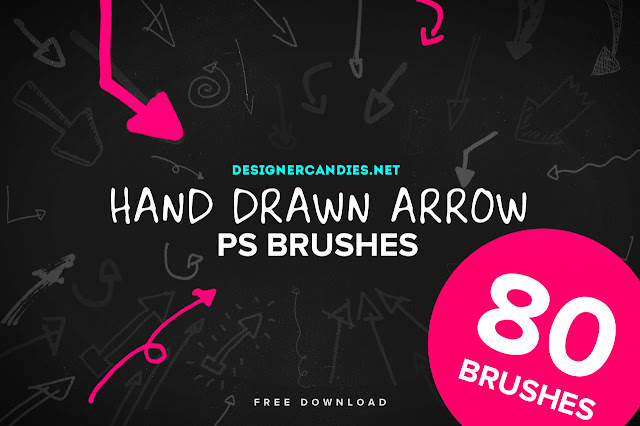 Hand Drawn Arrows PS Brush Set