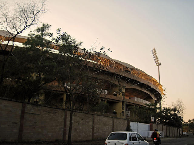 close up of cricket stadium