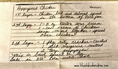 Poppy Seed Chicken Casserole Recipe     Life on Lakeshore Drive