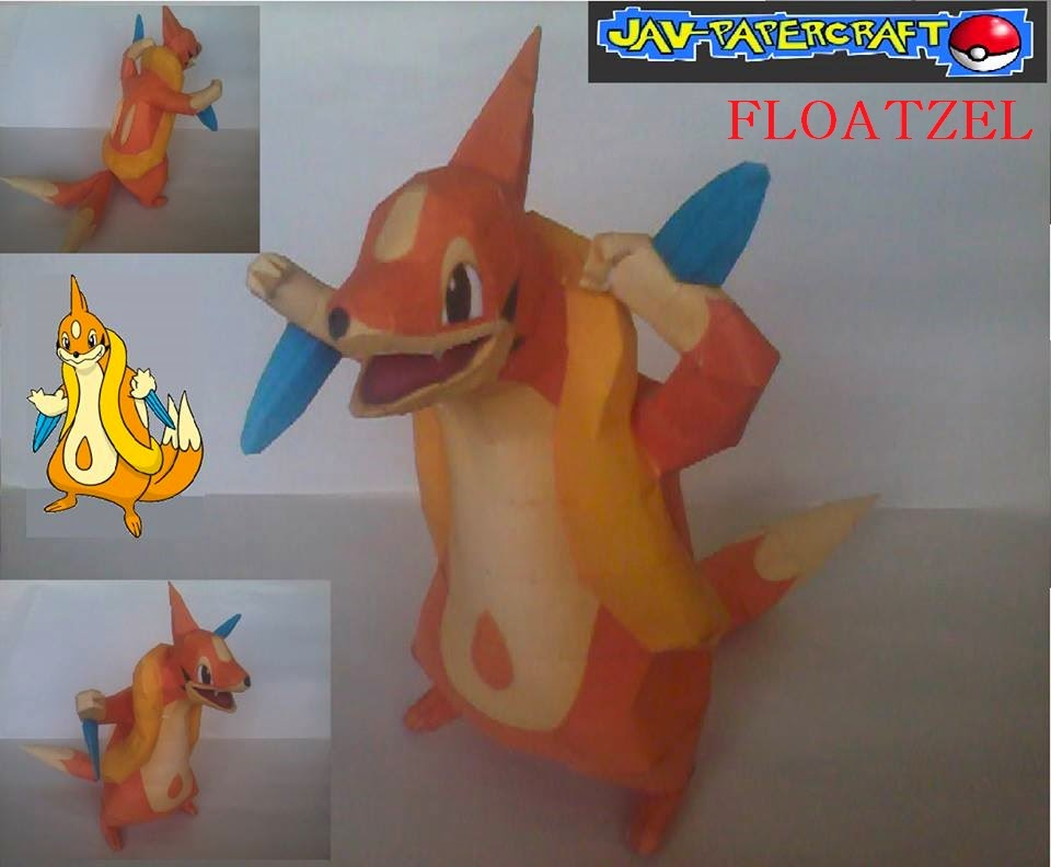 Floatzel Paper Model