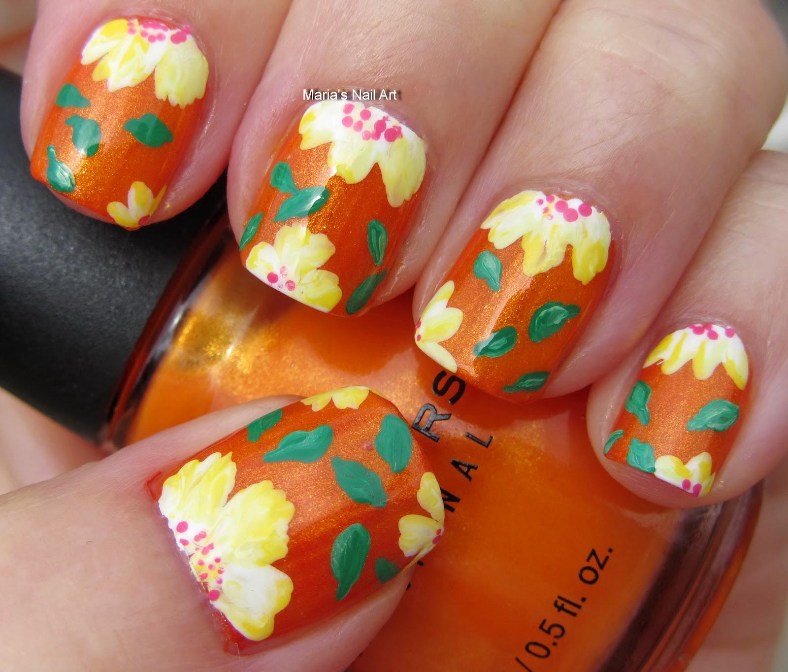 Marias Nail Art And Polish Blog: On Orange