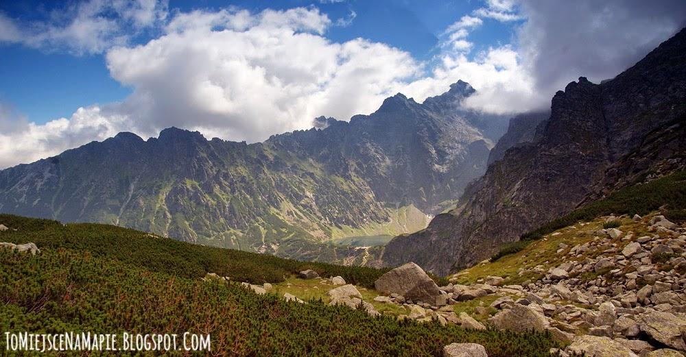 szlak na wrota chałubińskiego, dolina za mnichem