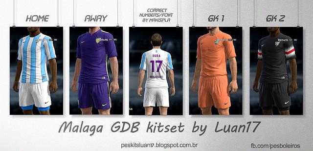 PES 2013 Malaga GDB Kitset 2015-16 by Luan17
