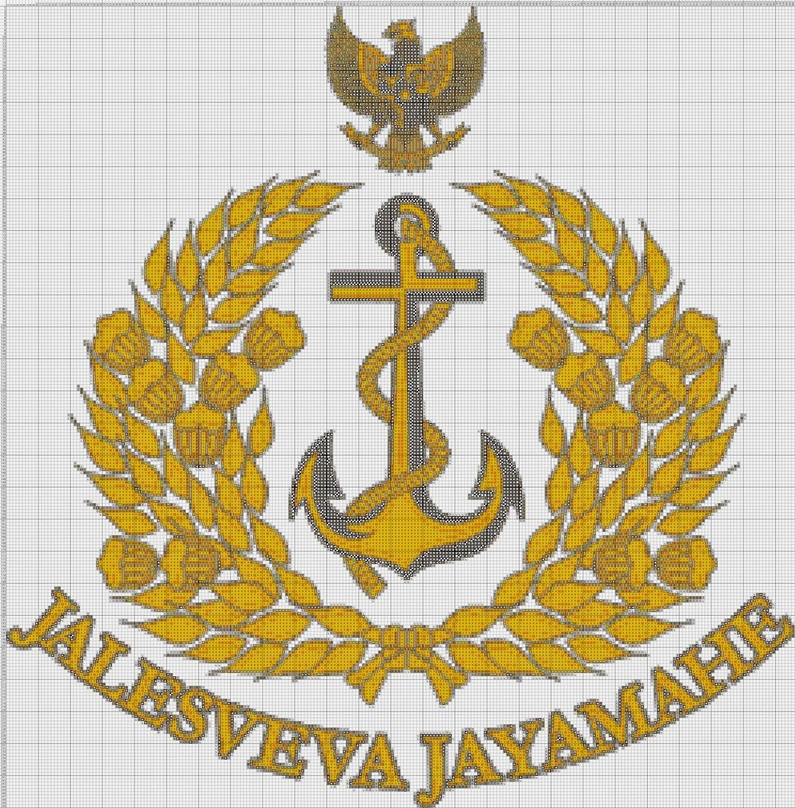 Gambar Pola Kristik Lambang TNI-AL