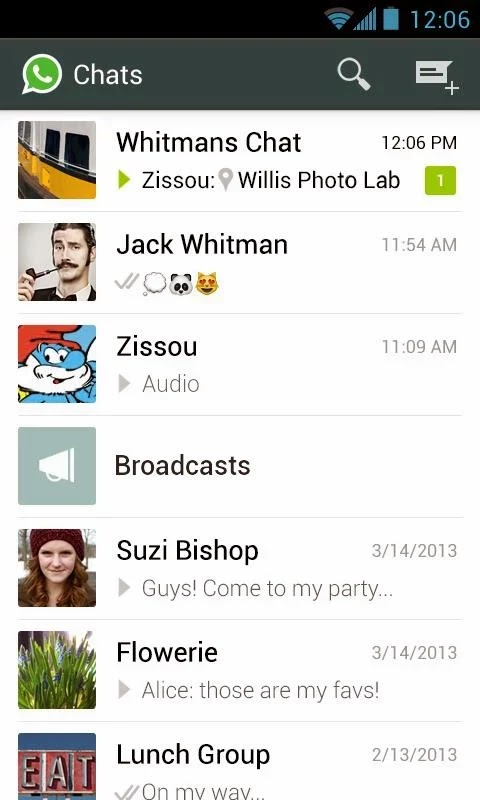 WhatsApp Messenger v2.11.498