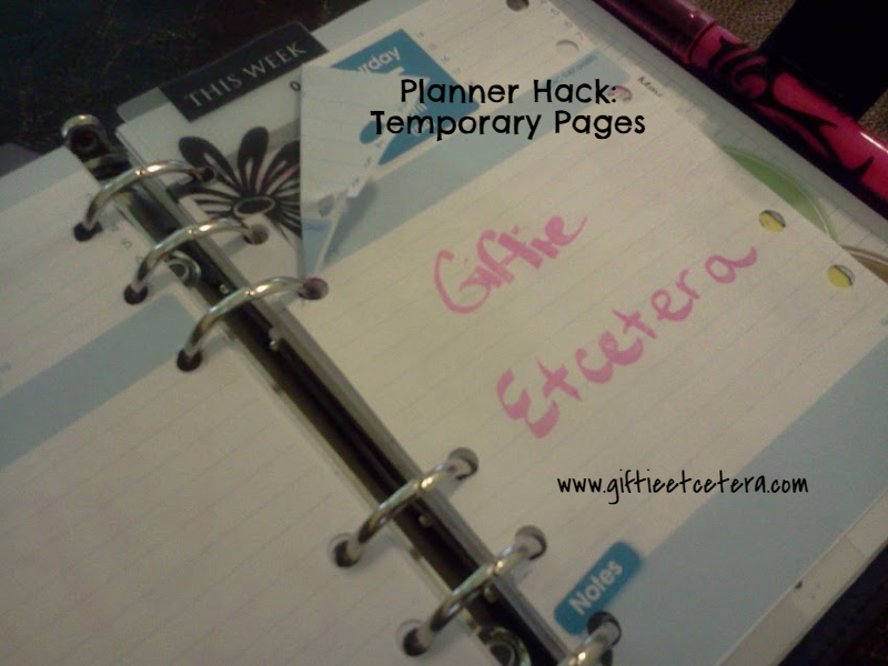 planner tips and tricks, planner hacks, tear out