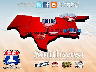 nba, southwest, map