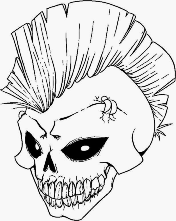 skull coloring pages and book uniquecoloringpages