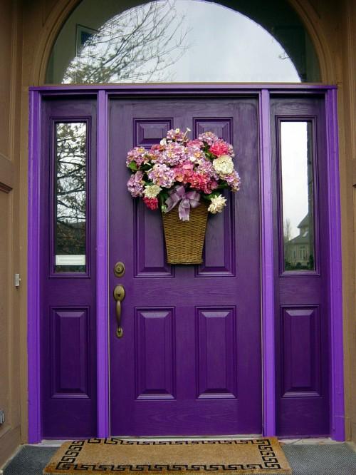 purple front door design 4 ไอเดียแต่งบ้านด้วยประตูบ้านสำหรับคนชอบสีม่วง