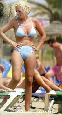 bikini joven belen esteban azul