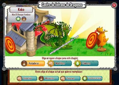 imagen de los ataques del dragon bosque frondoso