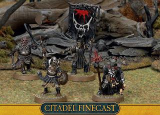 Figurki Władca Pierścieni LotR: SBG, Mordor Orc Command, grupa dowodzenia orków z Mordoru