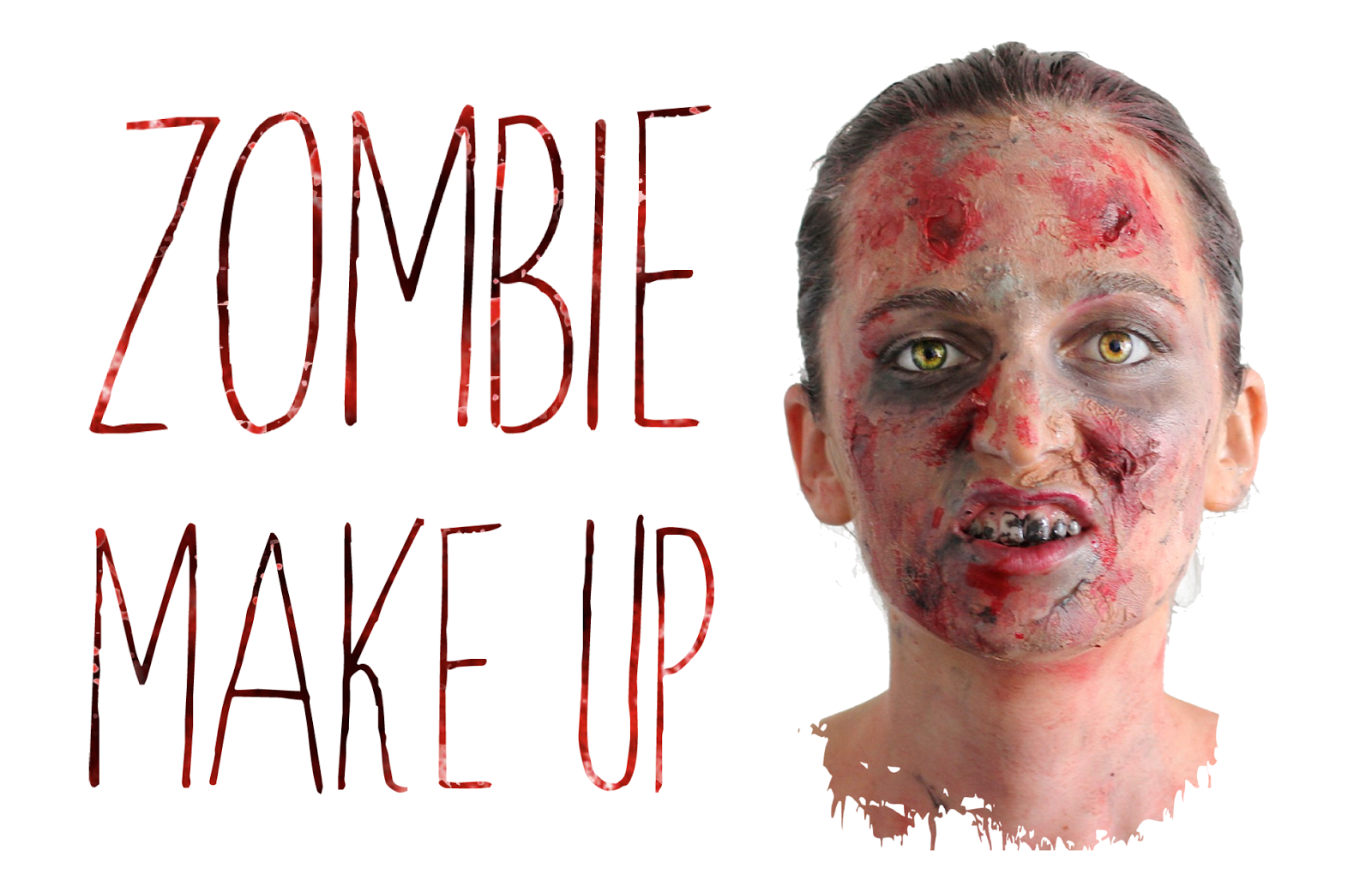 diy zombie make up a way of travel. Black Bedroom Furniture Sets. Home Design Ideas
