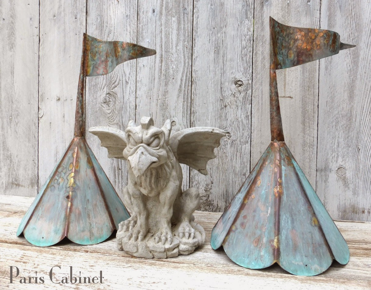 Finally The Copper Finials Were Finished And Aged. Arenu0027t They Great? I  Love Them And So Does My Little Gargoyle.