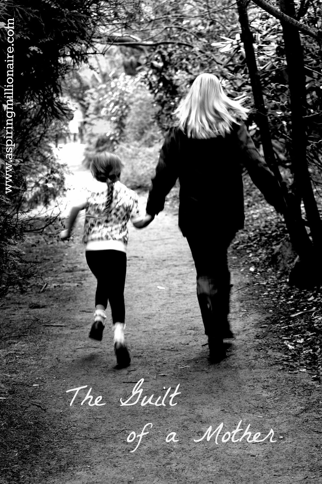 mom and girl walking