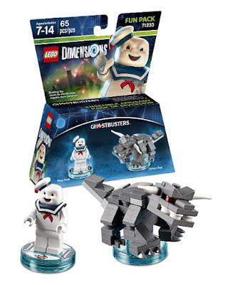 TOYS : JUGUETES - LEGO Dimensions  71233 Ghostbusters : Fun Pack  Stay Puft + Terror Dog Figuras - Muñecos - Videojuegos  | Edad: 7-14 | Piezas: 65 Comprar en Amazon España & buy Amazon USA