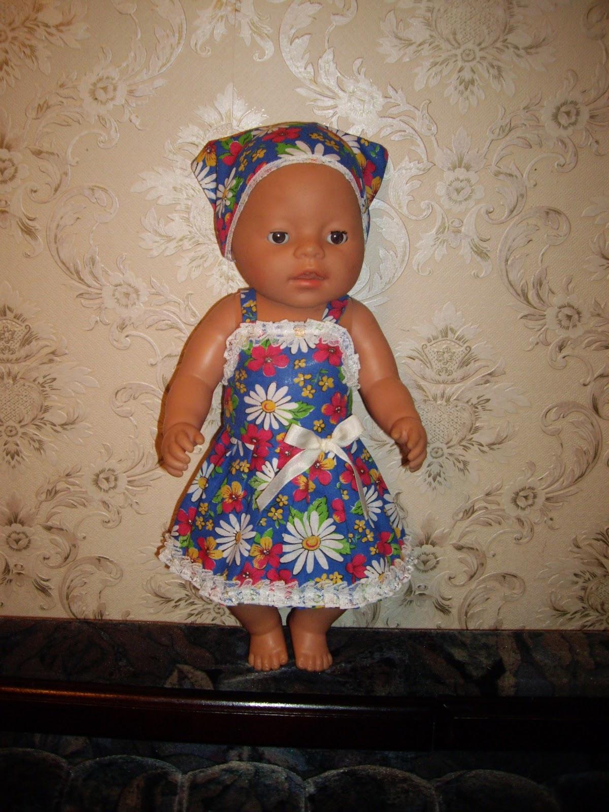 Как сшить платье на куклу беби бон своими руками