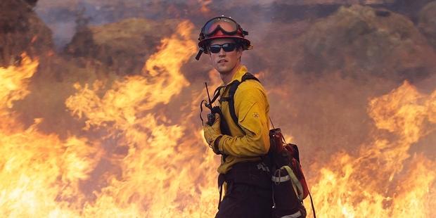 Firefighters winning against wind-stoked California blazes