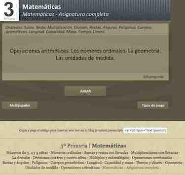 TEST Matemáticas 3º. Asignatura completa