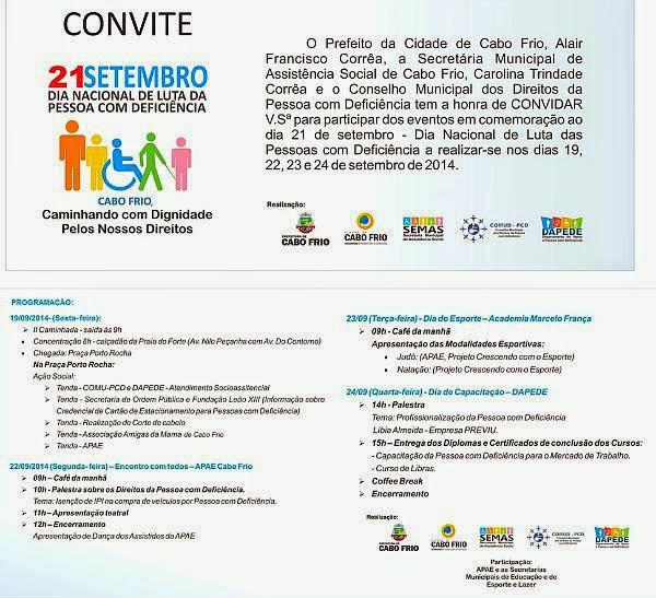 Semana de Luta da Pessoa com Deficiência em Cabo Frio