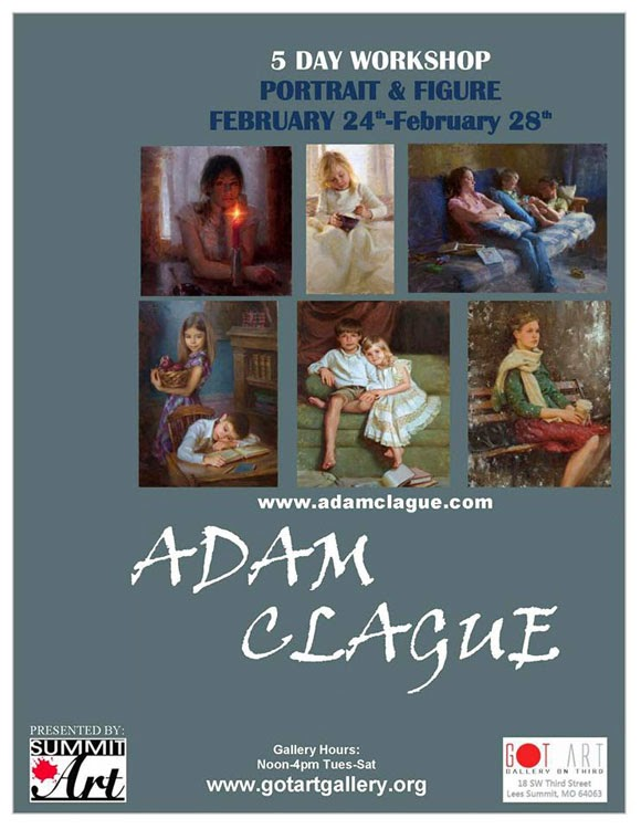 Adam Clague Portrait and Figure Workshop at Got Art Gallery